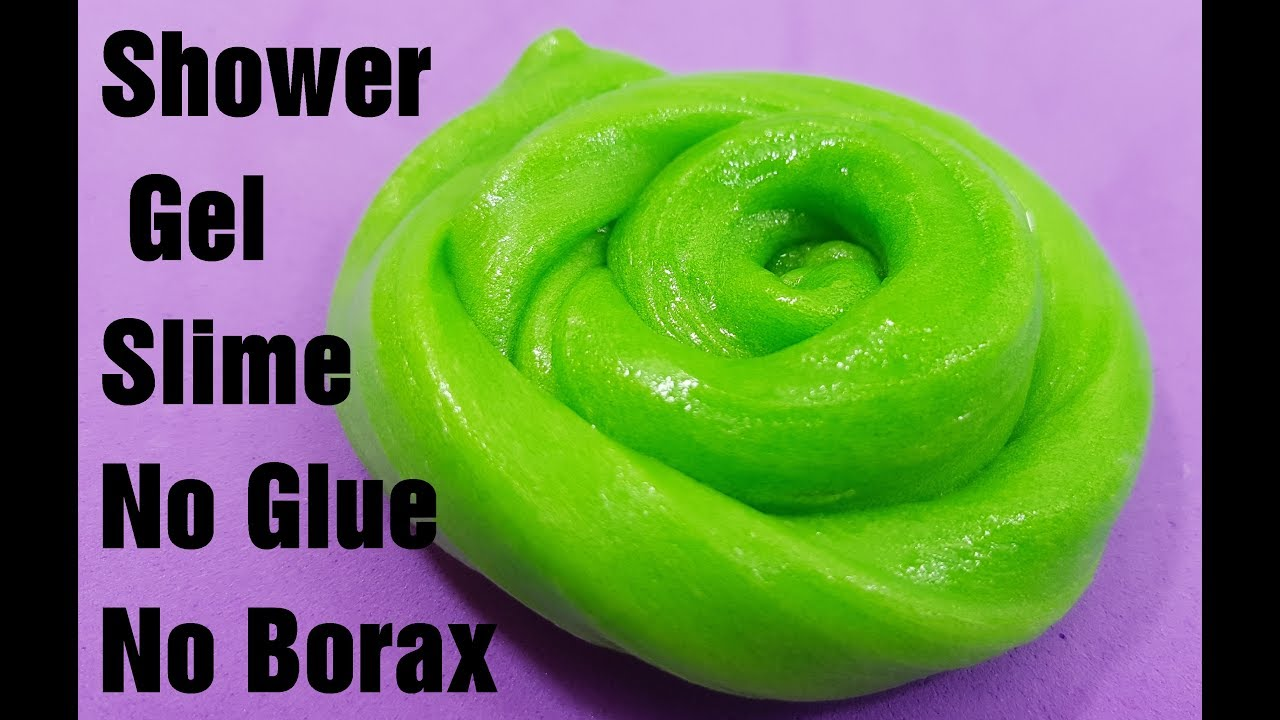 Shower Gel Slime No Glue No Boraxhow To Make Slime With Shower Gel