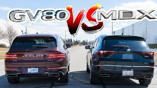 2022 Acura MDX vs 2021 Genesis GV80, incomparable!