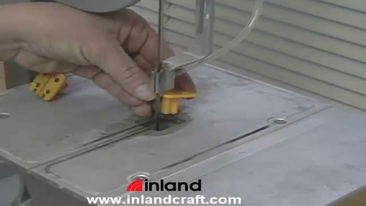 Replacing the BladeSert on Inland\'s DB-100 Diamond Band Saw - YouTube
