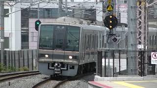 JR西日本 207系0番台(Z7編成)+1000番台(S50編成) 回送  鴫野(3番のりば)通過