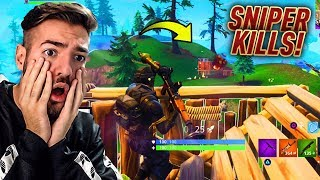 "EPIC SNIPER KILLS with NEW 5€ ""HALO"" SKIN + SIEG 😱💎Fortnite Battle Royale WakezGaming (English)"