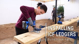 ICF Mountain Homestead: Installing Ledger Boards with Simpson ICFVL Hangers