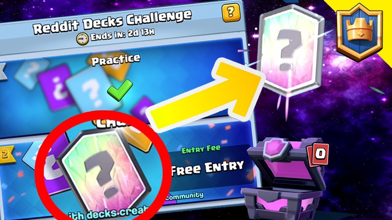 HOW TO GET A FREE LEGENDARY FROM REDDIT CHALLENGE! - Clash Royale