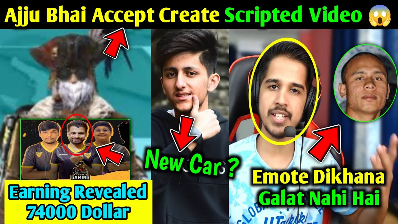 Total Gaming Accept Create Scripted Videos😱, TG eSports Earning Revealed 😱, AS Gaming New Car 🚗