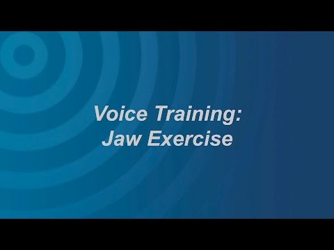 Voice Exercise: Jaw Exercises
