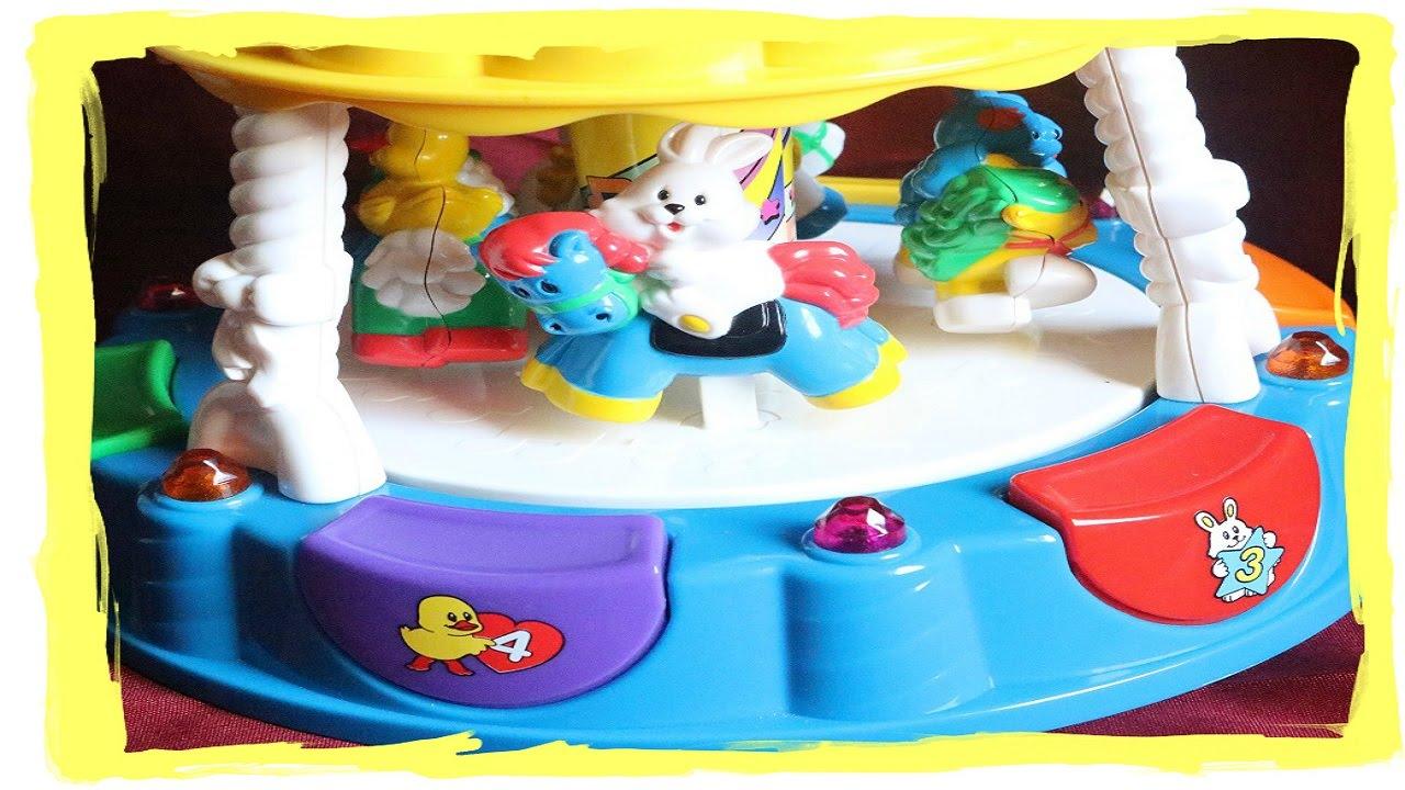 Light Up Carousel Music Wow A Cute Cat Duck Dog On