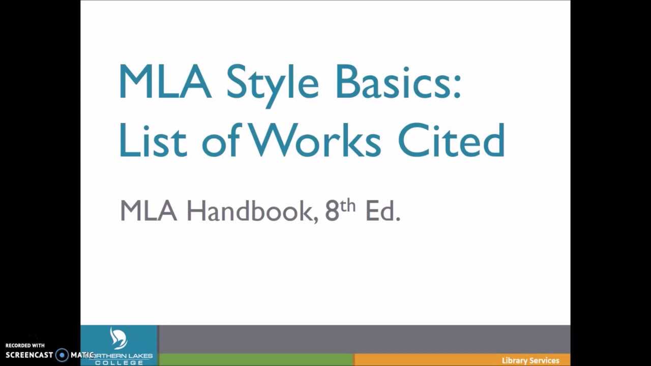 create an mla list of works cited using the core elements template