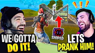 We Pulled A *PRANK* On A STREAM SNIPER! FT. SypherPK