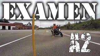EXAMEN MOTO CARNET A2 | EXAMEN PISTA A2