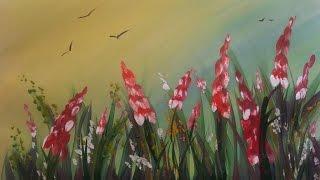 Картина за 3 минуты! Рисуем травку и цветы гуашью(Рисуем травку и цветы. Материалы, которые нужны для рисования этой картины: - гуашь, - кисти, - акварельная..., 2015-01-02T12:26:31.000Z)
