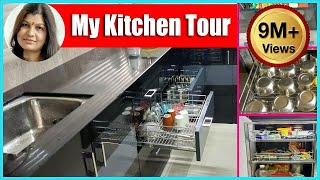 Indian organised Kitchen Tour ideas in hindi | रसोई कैसे सजाये | HOW TO ORGANIZE KITCHEN CABINET