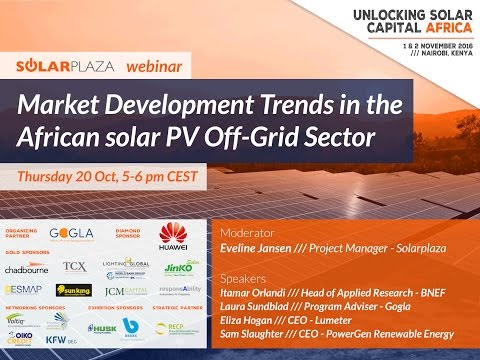 Webinar: Market trends in the African solar PV off grid sector