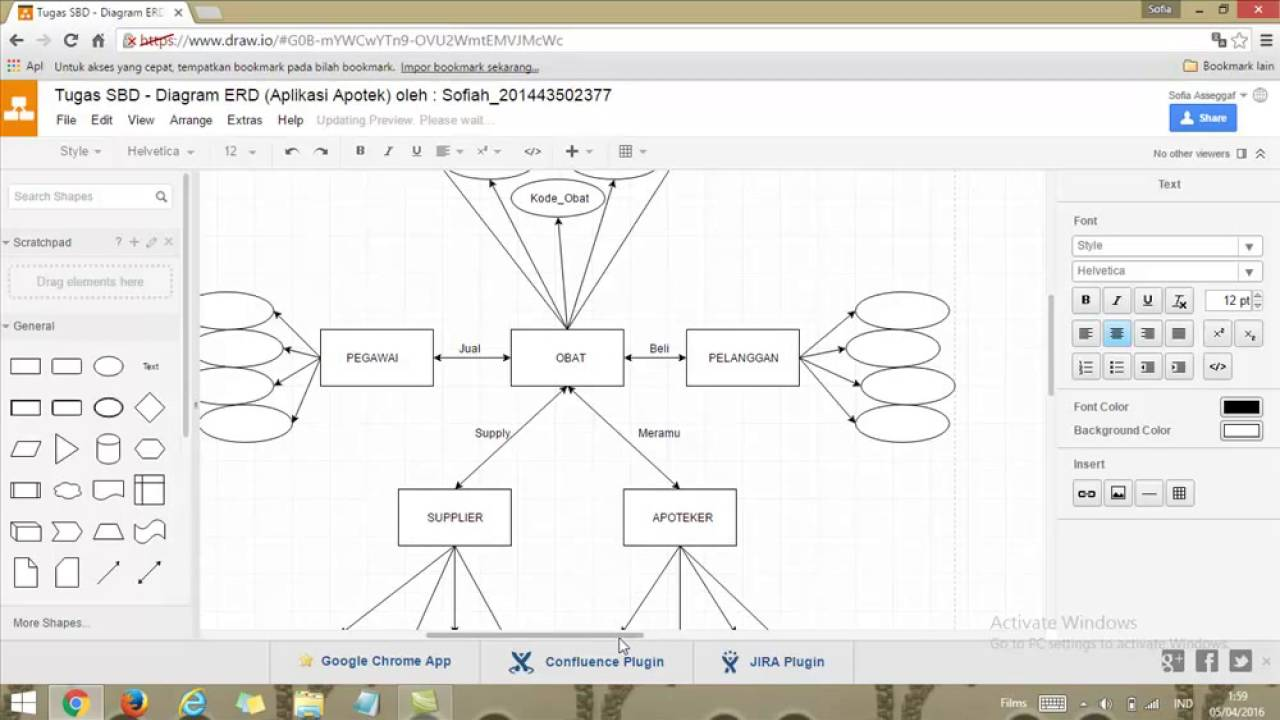 Tutorial diagram erd aplikasi apotek oleh sofia2377 youtube tutorial diagram erd aplikasi apotek oleh sofia2377 ccuart Choice Image