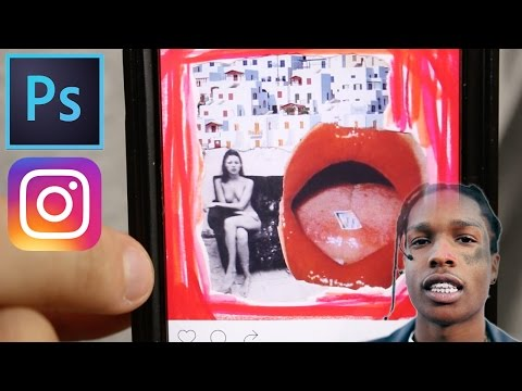 How to Create an Asap Rocky Instagram Feed Collage in Photoshop Tutorial