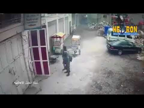 Soliders capture rock-attacker in Hebron (Media Resource Group)