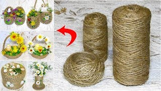6 IDEAS of crafts from JUTE and unnecessary things. GIFTS with their own hands without cost.