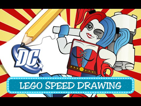 How To Draw Suicide Squad Harley Quinn Lego Dc Comics