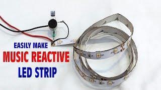 How to make music reactive Led light strip,sound detector