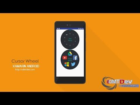 Xamarin Android Tutorial - Cursor Wheel Layout