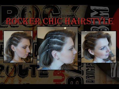 Прическа с имитацией выбритого виска ♥ Прическа на одну сторону ♥ Faux Shaved Side Hairstyle