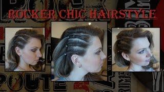 прическа с имитацией выбритого виска  Прическа на одну сторону  Faux Shaved Side Hairstyle