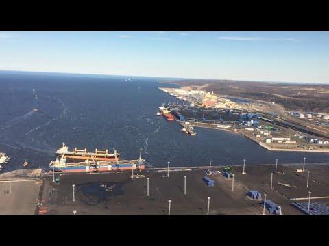 Порт Усть Луга с вертолёта 30042019