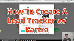 How To Create A Lead Tracker With Kartra, Zapier, and Google Sheets
