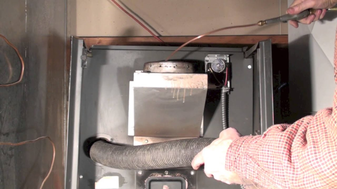 Cleaning The Oil Furnace Heat Exchanger Youtube