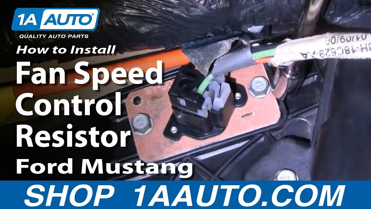 How To Install Replace Fan Speed Control Resistor Ford Mustang 94 04 Electrical Relay Wiring Diagram On Electric Clutch 1aautocom