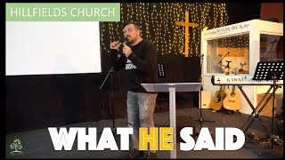 What He Said ☝️| Hillfields Church | Pastor Rich Rycroft