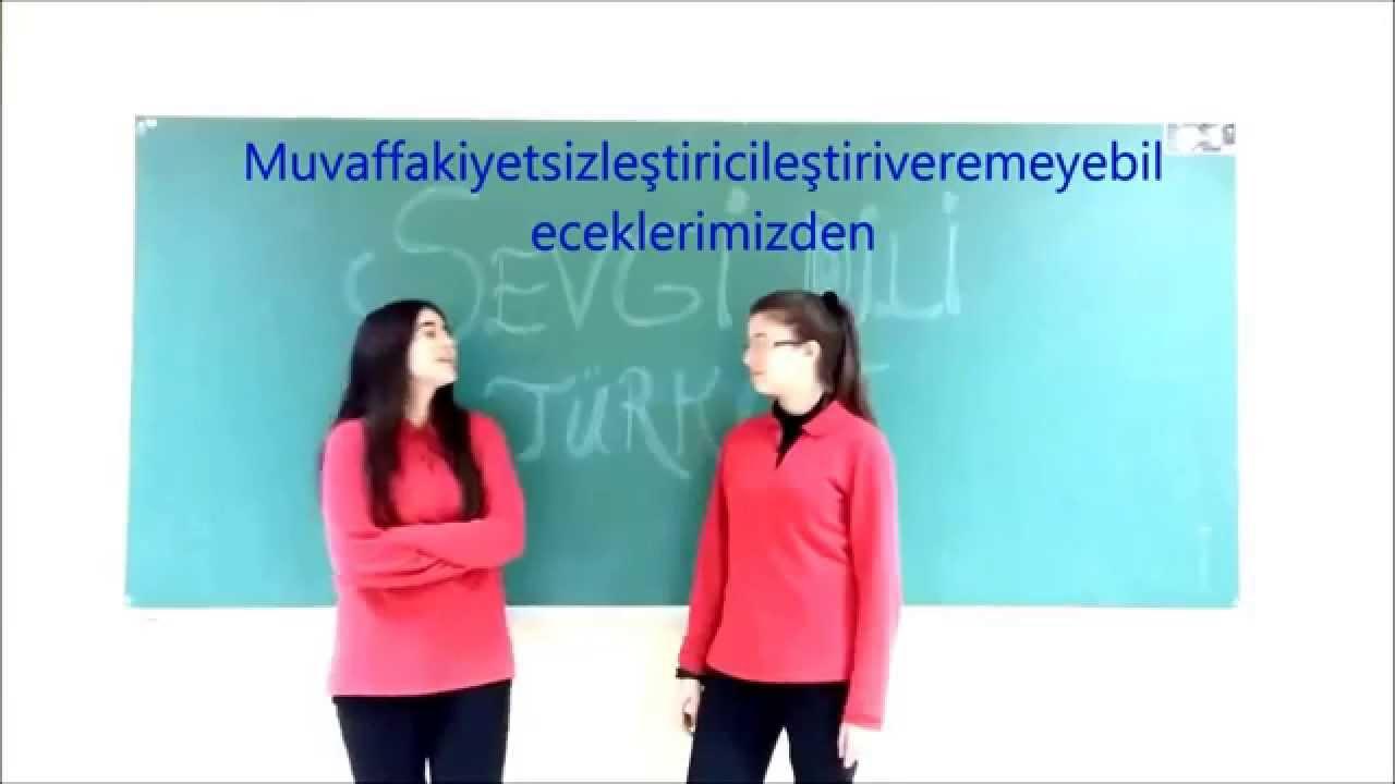 Turkce En Uzun Kelime Yabanci Ogrencilerin Dilinden The Longest Word In Turkish Youtube