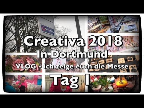 !!VLOG!! CREATIVA 2018 -TAG 1 - (Dortmund), FMA, follow me arround, DIY, Scrapbook, Inspirationen