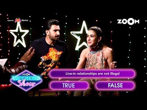 Ranveer Singh and Sara Ali Khan play a fun game 'What The Law'