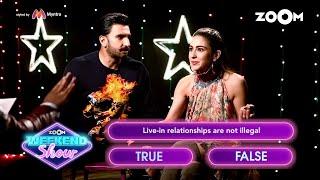 Ranveer Singh and Sara Ali Khan play a fun game 39What The Law39