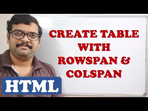 CREATING TABLE WITH ROWSPAN AND COLSPAN  - HTML
