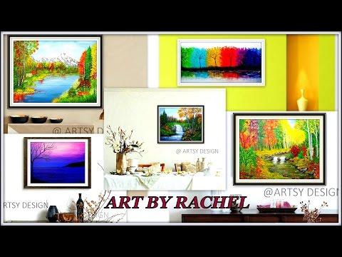 """""""AUTUMN LANDSCAPE"""" Acrylic Paintings By Rachel – Part 3"""