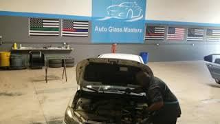 Subaru Impreza windshield & backglass install