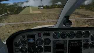 Cessna 340 landing at Stanley, Idaho FSX