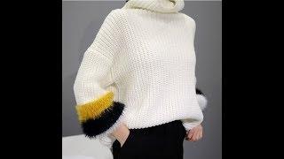 Пуловер Свободного Кроя Спицами - 2019 / Loose Knit Pullover