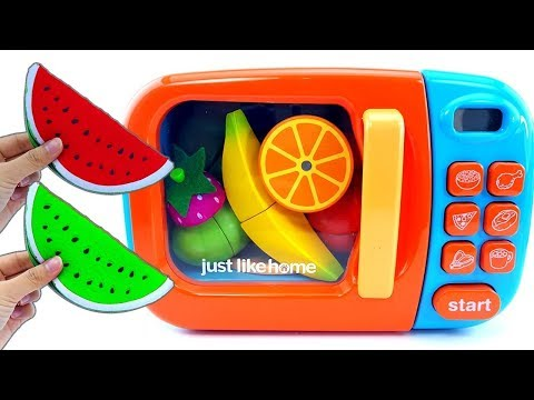Microwave Surprise Cutting Fruit - Squishy Watermelon Banana Strawberry Super Surprise Eggs For Kids