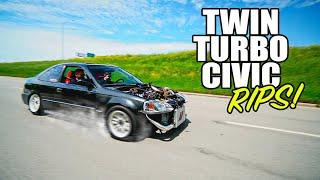 The TWIN-TURBO Honda Civic FINALLY RIPS!!!!