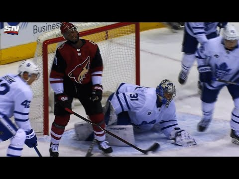 Frederik Andersen's sprawling save leaves Anthony Duclair defeated