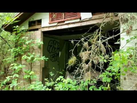 Abandoned neighborhood in the woods San Antonio Tx