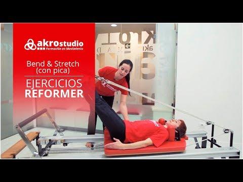 Pilates Reformer - Ejercicio Bend and stretch (con pica)