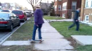A Skateboard Curb Session On A Cold December Day