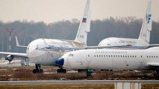 Исторический момент в Домодедово / Взлет третьего Ил-96 простоявшего 10 лет + Заход в Жуковском