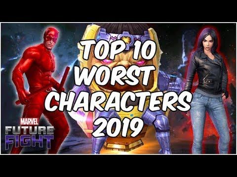TOP 10 WORST CHARACTERS!! JUNE 2019 - Marvel Future Fight