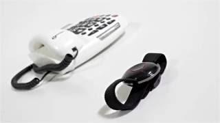 Produktvideo zu Sprechendes Notruftelefon Geemarc Serenities mit Notrufarmband