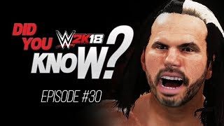 WWE 2K18 Did You Know?: DELETE Your Opponent, Unique Animations & More (Episode 30)