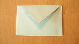 видео как сделать конверт из бумаги